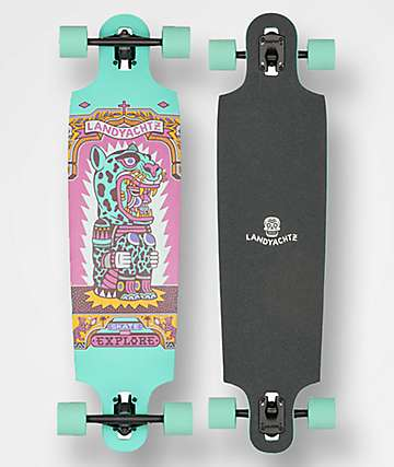 "Landyachtz Drop Cat Illuminacion 38"" Drop Through Longboard Complete"