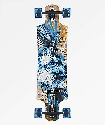 "Landyachtz Drop Hammer Blue Jay 36.5"" Drop Through Longboard Complete"