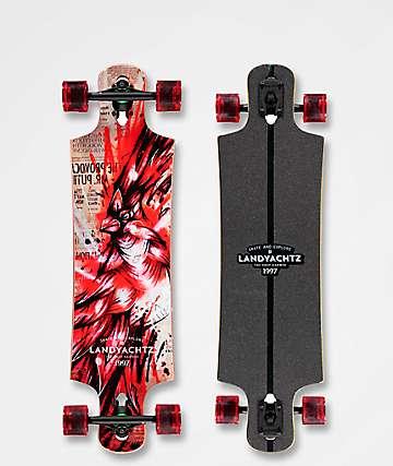 "Landyachtz Hammer Drop Cardinal 36.4""  Longboard Complete"
