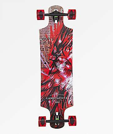 "Landyachtz Maple Hammer Cardinal 36.5"" Drop Through Longboard Complete"