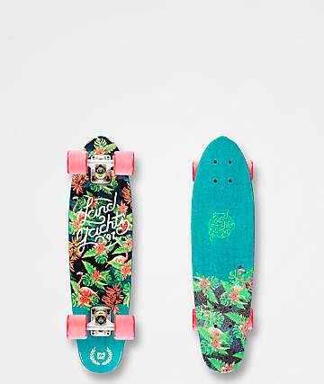 "Landyachtz Mini Dinghy Floral 26""  Cruiser Complete Skateboard"