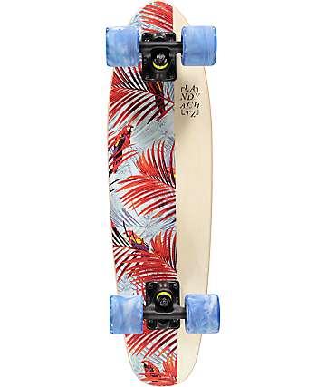 "Landyachtz Mini Dinghy Floral White 26"" Cruiser Complete Skateboard"