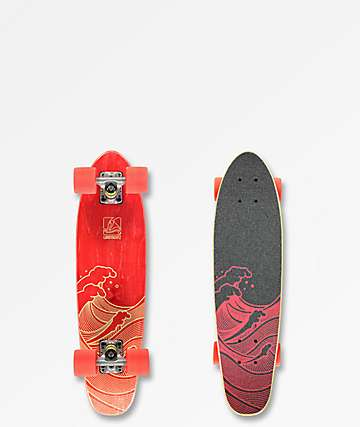 "Landyachtz Mini Dinghy Waves 26"" Cruiser Complete Skateboard"