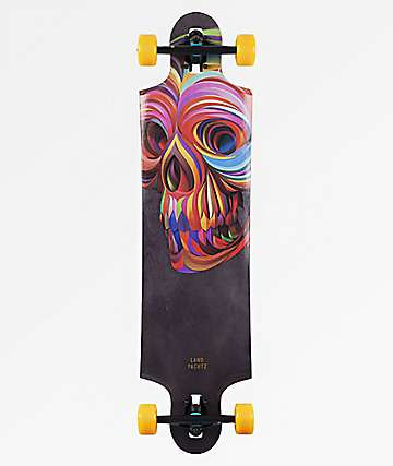 "Landyachtz Ten Two Four Skull 38.75"" Drop Through Longboard Complete"