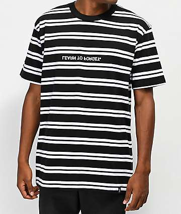 Learn To Forget Classic Black & White Stripe T-Shirt