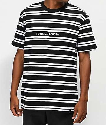 Learn To Forget Classic camiseta de rayas en blanco y negro