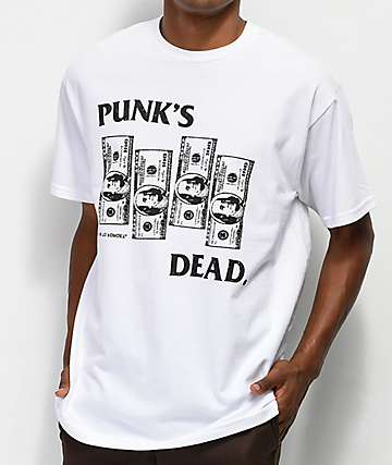 Learn To Forget Punk's Dead camiseta blanca