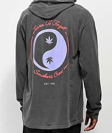 Learn To Forget Smoker's Club camiseta negra de manga larga con capucha