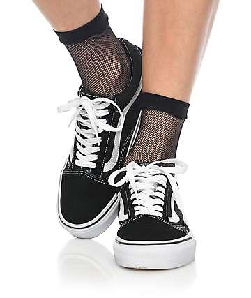 Leg Avenue Black Fishnet Anklet Socks