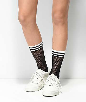 Leg Avenue Black Fishnet Athletic Anklet Socks