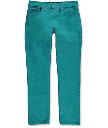 Levi 511 Port Blue jeans estrechos en color turquesa