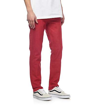 Levi 511 Scooter Red jeans estrechos en rojo