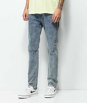 Levi's 510 Dog Light Grey Acid Wash Jeans