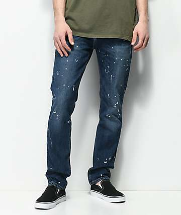 Levi's 511 Prof Marvel Dark Indigo Splatter Slim Fit Jeans