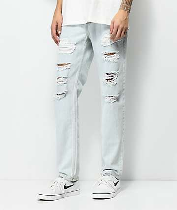 Levi's 511 Witches Castle Light Indigo Ripped Jeans