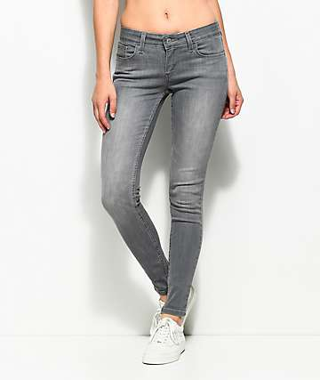 Levi's 535 Grey Smoke Super Skinny Jeans