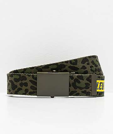Levi's Animal Print Green Web Belt