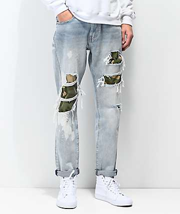 49821864f1ca Levi's Hi-Ball Roll Camo Shredded Jeans
