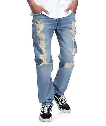 Levi's Razza  502 jeans rotos en azul