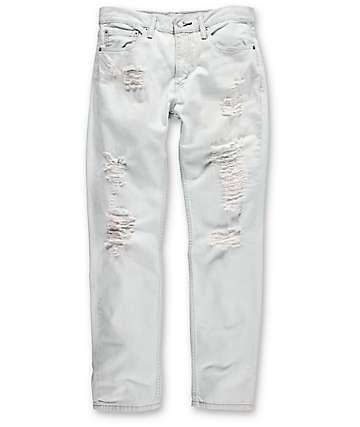 Levi's Thrashed 511 jeans blancos rotos