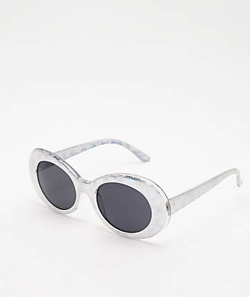 Linda Iridescent Oval Sunglasses