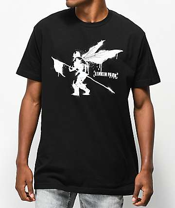 Linkin Park Street Soldier Black T-Shirt
