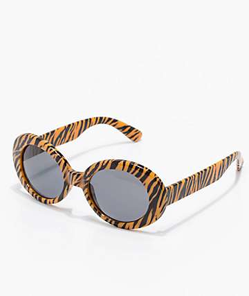 Lithium Tiger Round Clout Sunglasses