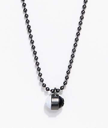 Lokai Gunmetal Single Pendant Necklace
