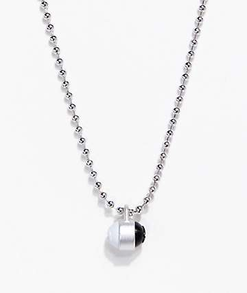 Lokai Silver Single Pendant Necklace