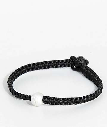 Lokai Single Wrap Black Bracelet
