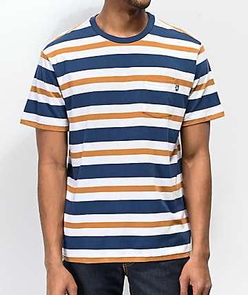 Loser Machine Alden Navy, White & Brown T-Shirt