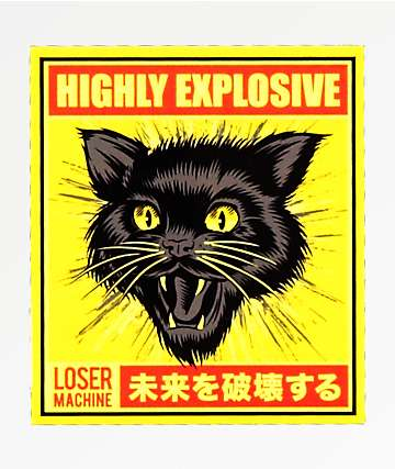 Loser Machine Black Cat Sticker