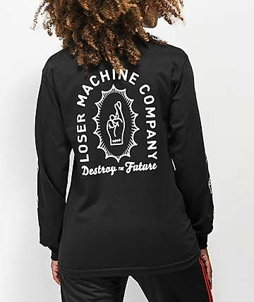Loser Machine Catacomb Black Long Sleeve T-Shirt