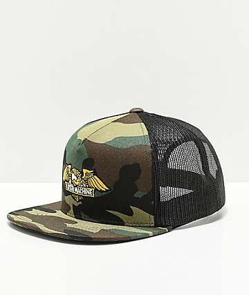 Loser Machine Co. Wings Camo Mesh Snapback Hat