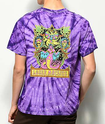 Loser Machine Cosmic Cobra Purple Tie Dye T-Shirt