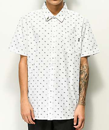 Loser Machine Delphi White Short Sleeve Button Up Shirt