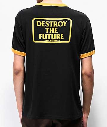 Loser Machine Destroy Box Black Ringer T-Shirt