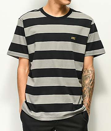 Loser Machine Erickson Black & Grey Stripe Knit T-Shirt