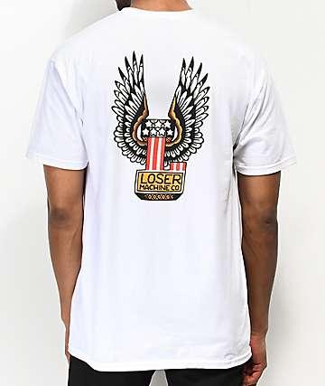 Loser Machine Free Hand White T-Shirt