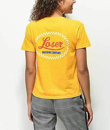 Loser Machine Freestyle Checkered camiseta dorada