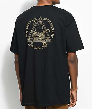 Loser Machine Friends And Enemies Black T-Shirt
