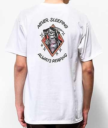 Loser Machine Never Sleeping White T-Shirt