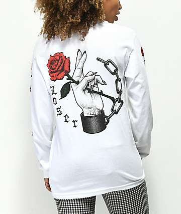 Loser Machine Shackles White Long Sleeve T-Shirt