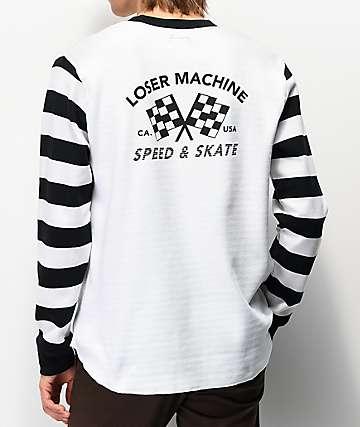 Loser Machine Southcrest White Long Sleeve Knit T-Shirt