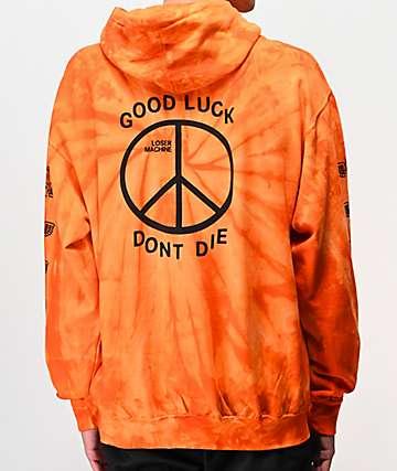 Loser Machine Trench Light Orange Tie Dye Hoodie