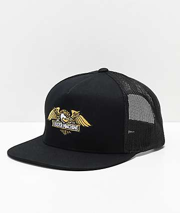 Loser Machine Wings Black Trucker Hat
