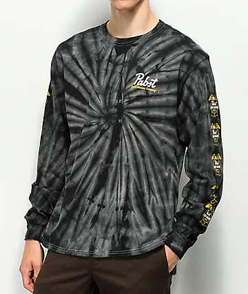 Loser Machine x PBR 12 Pack Black Tie Dye Long Sleeve T-Shirt