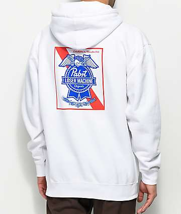 Loser Machine x PBR Condor Ribbon White Hoodie