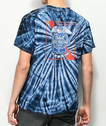 Loser Machine x PBR Ribbon Navy Tie Dye T-Shirt