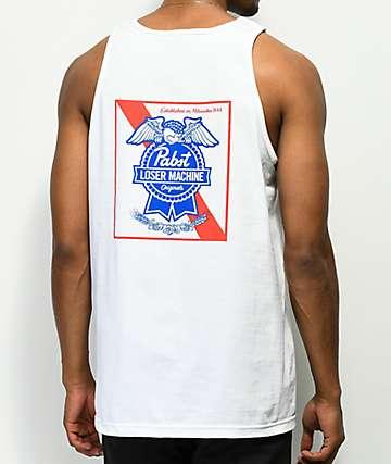 Loser Machine x PBR Ribbon camiseta blanca sin mangas